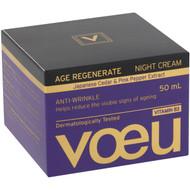 3 PACK OF Voeu Age Regenerate Anti-ageing Night Moisturiser 50ml
