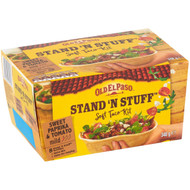 3 PACK OF Old El Paso Stand 'n Stuff Soft Taco Kit 348g