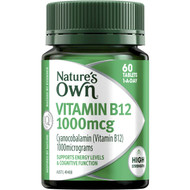 3 PACK OF Nature's Own High Strength Vitamin B12 1000mcg Tablets 60 pack
