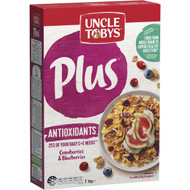 3 PACK OF Uncle Tobys Cereal Plus Antioxidant 765g