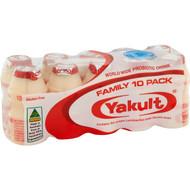 3 PACK OF Yakult Probiotic Drink  10x65ml
