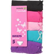 3 PACK OF WW Essentials Underwear Girl's Basic Briefs Size 6-7