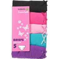 3 PACK OF WW Essentials Underwear Girl's Basic Briefs Size 4-5