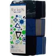 3 PACK OF WW Essentials Boys Underwear Fly Front Trunks 6-7 3 pack