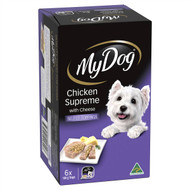 3 PACK OF My Dog Chicken Supreme With Cheese Wet Dog Food 6 pack