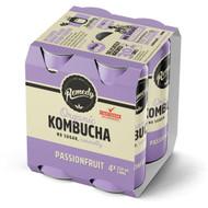 3 PACK OF Remedy Passionfruit Kombucha 250ml x4 pack