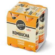 3 PACK OF Remedy Lemon Ginger Kombucha 4 pack