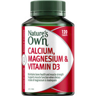3 PACK OF Nature's Own Calcium, Magnesium & Vitamin D3 Tablets 120 pack