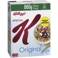 3 PACK OF Kellogg's Special K Original Breakfast Cereal Value Pack 860g