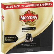 3 PACK OF Moccona Ristretto Strong Coffee Capsules 20 pack