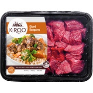 3 PACK OF K-roo Kangaroo Diced 500g