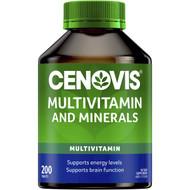 3 PACK OF Cenovis Multivitamin & Minerals Tablets Value Pack 200 pack