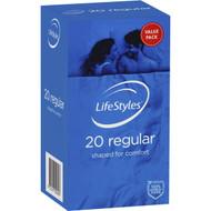 3 PACK OF Lifestyles Condoms Regular 20 pack