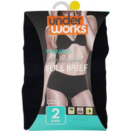 3 PACK OF Underworks Underwear Womens Classic Full Brief Size 16 2 pack