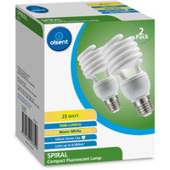 3 PACK OF Olsent Cfl Spiral Es 23w 1600lm Lamp 23w Warm White 2 pack