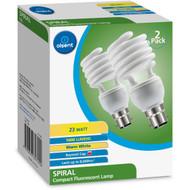 3 PACK OF Olsent Cfl Spiral Bc 23w 1600lm Ww 23 Watt 2 pack