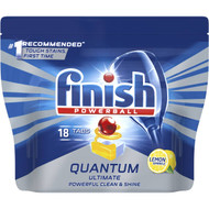 3 PACK OF Finish Powerball Quantum Ultimate Dishwasher Tablets Lemon 18 pack