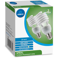 3 PACK OF Olsent Cfl Spiral Es 23w 1600lm Cw Lamp 23w Cool White 2 pack