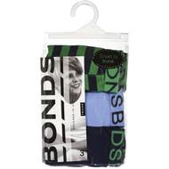 3 PACK OF Bonds Boys Underwear Cotton Trunk (8-10 & 10-12) 3 pack