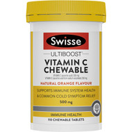 3 PACK OF Swisse Utliboost Vitamin C Chewable Tablets Orange Flavour 110 pack