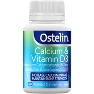 3 PACK OF Ostelin Calcium & Vitamin D3 Tablets 60 pack