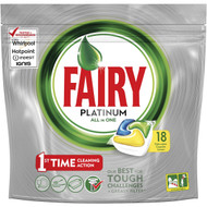 3 PACK OF Fairy Platinum Dishwasher Tablets All In One Lemon 18 capsules