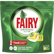 3 PACK OF Fairy Dishwasher Tablets All In One Lemon 22 capsules