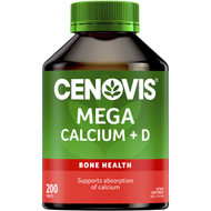 3 PACK OF Cenovis Mega Calcium + D Tablets Value Pack 200 pack