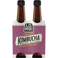 3 PACK OF Lo Bros Kombucha Passionfruit 4 pack