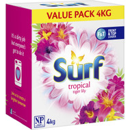 3 PACK OF Surf Laundry Powder Top & Front Loader Tropical 4kg