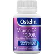 3 PACK OF Ostelin Vitamin D3 Capsules 130 pack