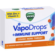 3 PACK OF Vicks Vapo Drops & Immune Support  36 pack