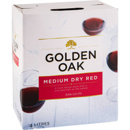 3 PACK OF Golden Oak Cask Wine Medium Dry Red 4l