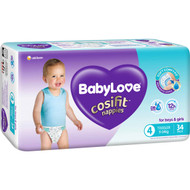 3 PACK OF Babylove Cosifit Bulk Nappies Toddler 34 pack