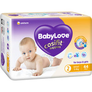 3 PACK OF Babylove Cosifit Bulk Nappies Infant 44 pack