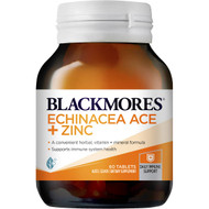 3 PACK OF Blackmores Echinacea Ace & Zinc 60 pack
