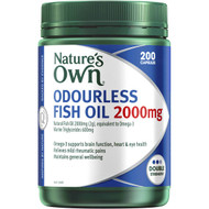 3 PACK OF Nature's Own Odourless Fish Oil 2000mg Capsules 200 pack