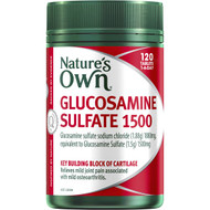 3 PACK OF Nature's Own Glucosamine Sulfate 1500 Tablets 120 pack