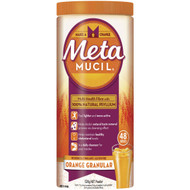 3 PACK OF Metamucil Daily Fibre Supplement Orange Granular 48 Doses 528g