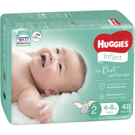 3 PACK OF Huggies Infant Nappies 48 pack