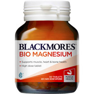 3 PACK OF Blackmores Bio Magnesium 50 pack