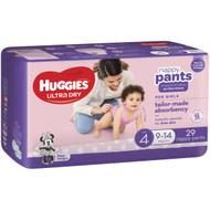 3 PACK OF Huggies Nappy Pants Toddler Girl 29pk