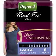 3 PACK OF Depend Female Underwear Super Large 8pk