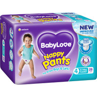 3 PACK OF Babylove Nappy Pants Toddler 9-14kg 28 pack