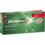 3 PACK OF Berocca Energy Vitamin Original Berry Effervescent Tablets 30 pack