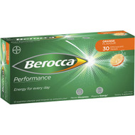 3 PACK OF Berocca Energy Vitamin Orange Effervescent Tablets 30 pack