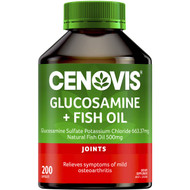 3 PACK OF Cenovis Glucosamine + Fish Oil Capsules 200 pack