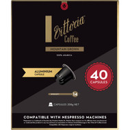 3 PACK OF Vittoria Mountain Grown Nespresso Compatible Coffee Capsules 40 pack