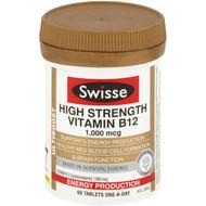 3 PACK OF Swisse Ultiboost Vitamin B12 60 pack