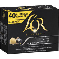 3 PACK OF L'or Espresso Onyx Coffee Capsules 40 pack